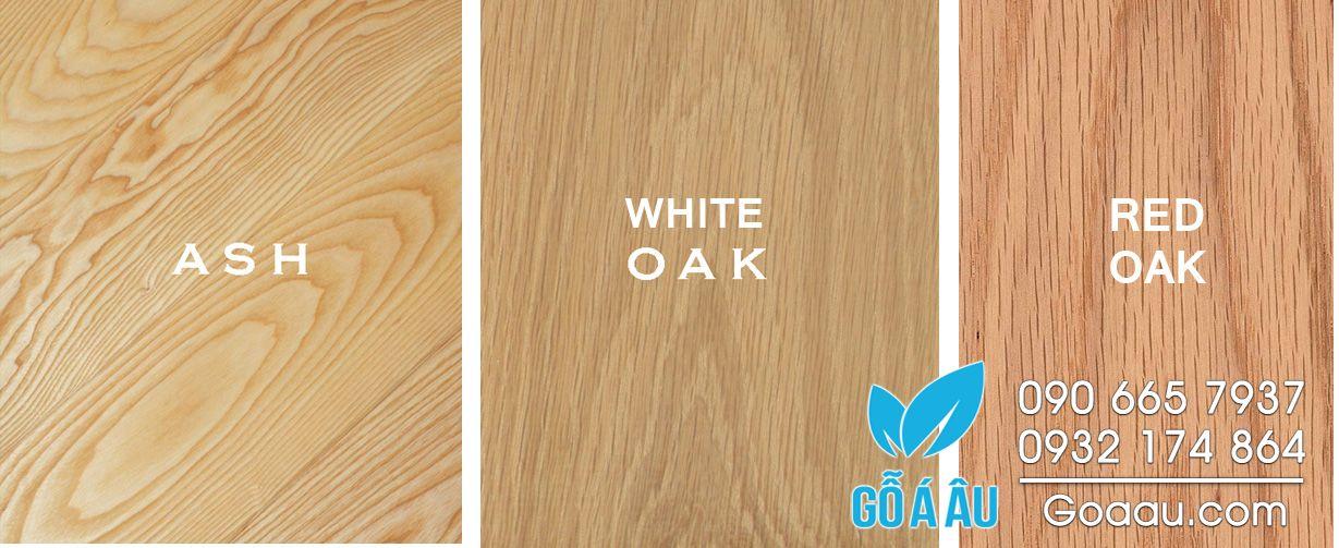 Phân biệt gỗ sồi và gỗ tần bì