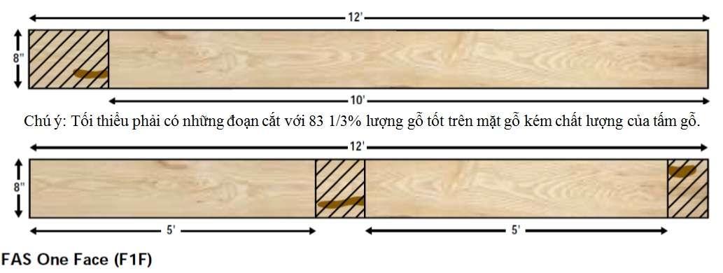 Phân hạng phẩm cấp chất lượng gỗ hạng fas