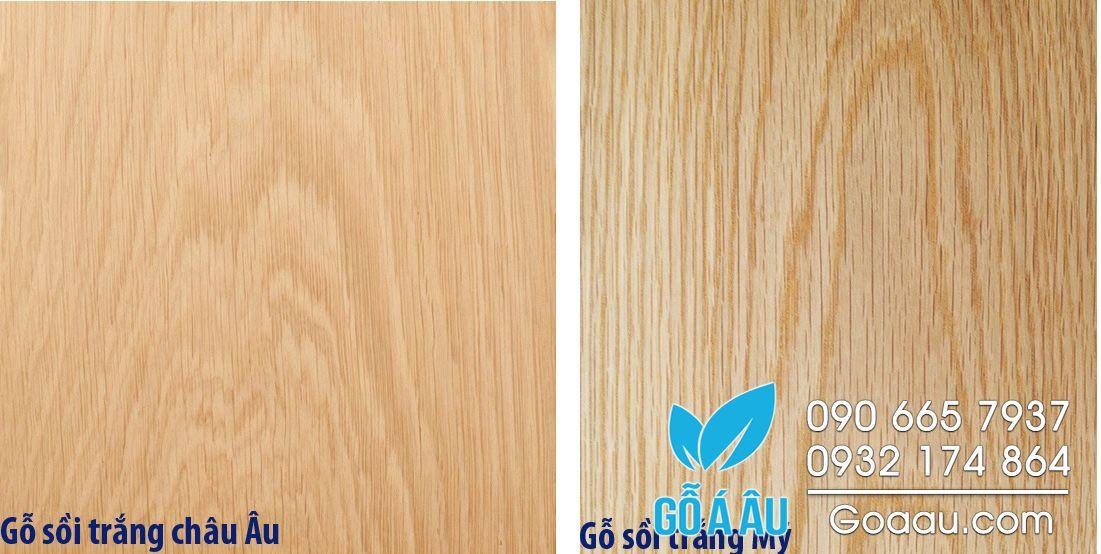 Phân biệt gỗ sồi trắng Mỹ và gỗ sồi trắng Châu Âu