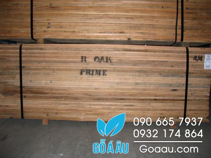 bảng giá gỗ sồi đỏ