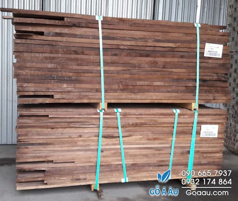 gỗ óc chó xẻ sấy