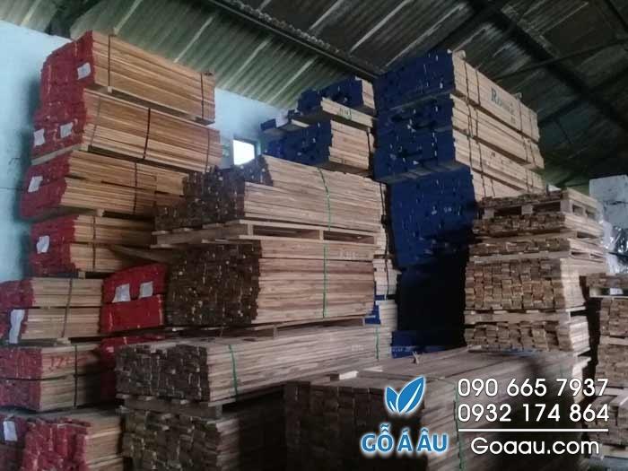 gỗ teak xẻ sấy